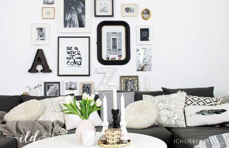 Private Bildergalerie im frischen Look (nicht nur) fürs Wohnzimmer