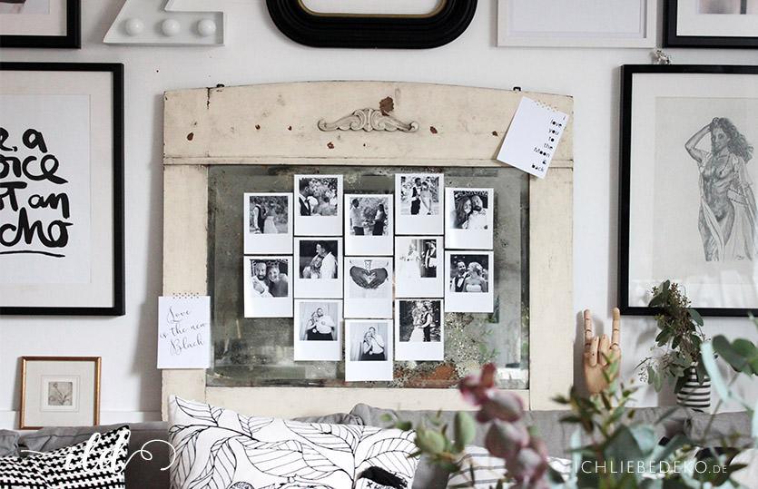DIY Valentinstagsdeko mit selbstgedruckten Fotos