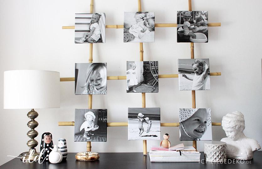 Diy Bilder Kollage Im Squareformat Als Schlafzimmerdeko Ich Liebe Deko