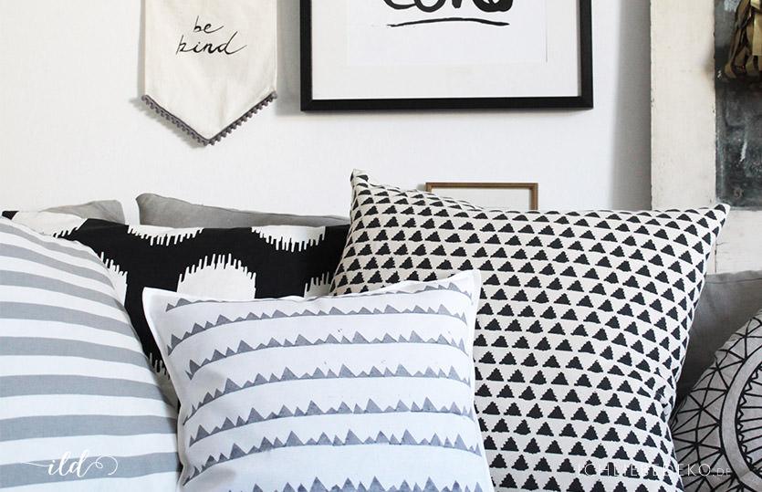 Kissen mit DIY Druck für einen hyggeligen Look