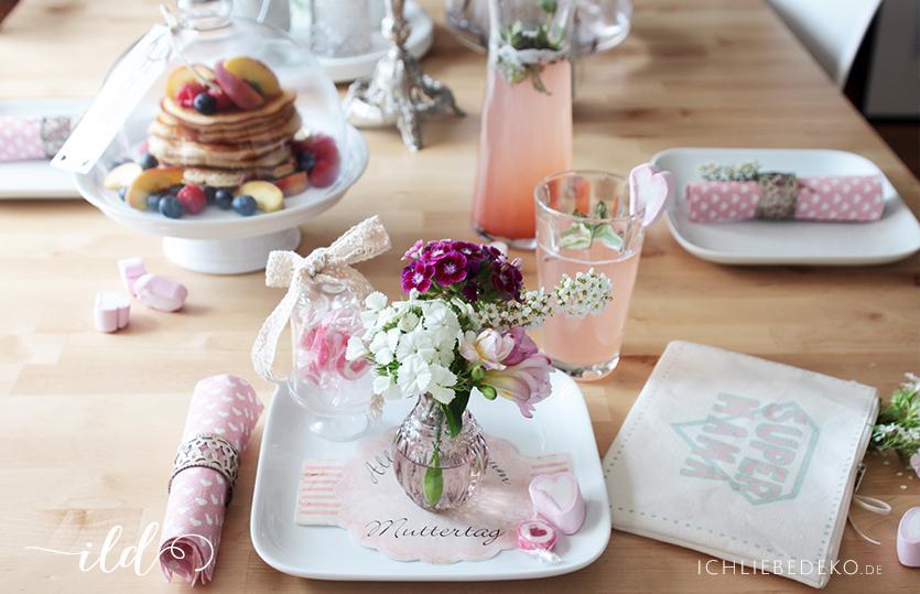 Tisch Deko tischdeko zum muttertagsfrühstück ich liebe deko