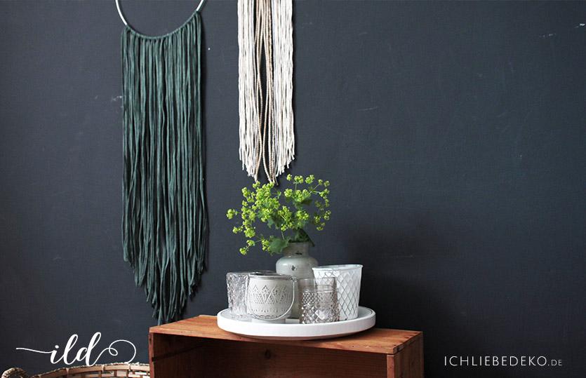 wanddekoration mit diy makramee im ethno look ich liebe deko. Black Bedroom Furniture Sets. Home Design Ideas