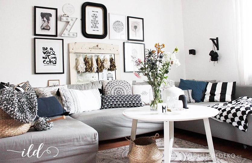 Meine Trends 2017 für ein Wohnzimmer im Vintage-Boho-Look mit ...