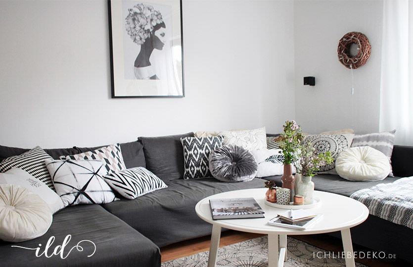 Offenes Wohn-Esszimmer im nordischen Stil • Ich Liebe Deko