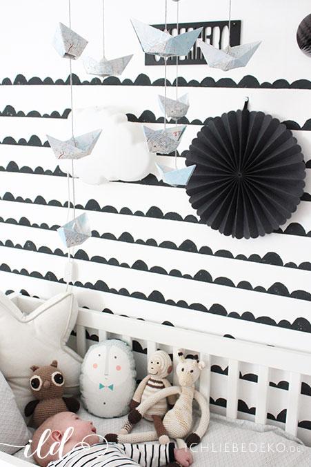 Babyzimmer-im-Schwarz-Weiß-Look