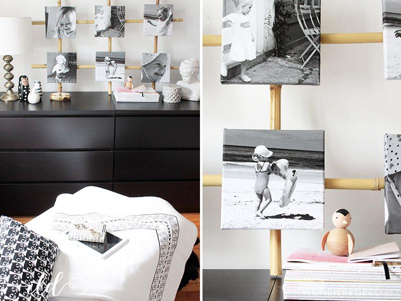 DIY-Kollage-im-Schwarz-Weiß-Look-fürs-Schlafzimmer