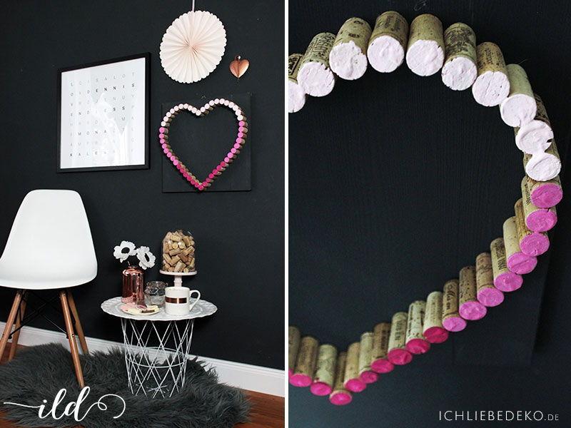 DIY Korkherz zum Valentinstag