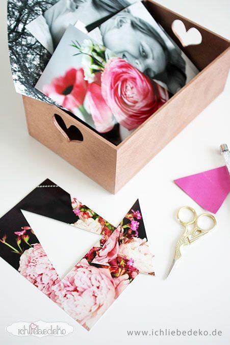 diy muttertagsgeschenk mit fotos ich liebe deko. Black Bedroom Furniture Sets. Home Design Ideas