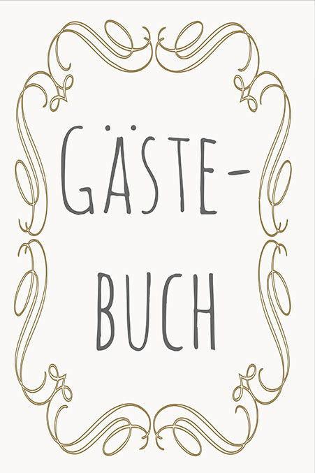 Gästebuch-Schild