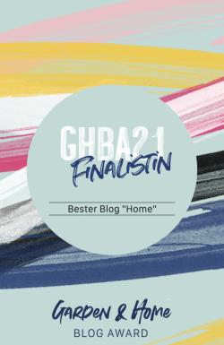 GHBA 2021 Finalistin bestes Blog Home