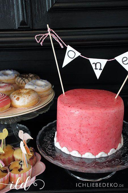 Geburtstagstorte zum ersten Geburtstag