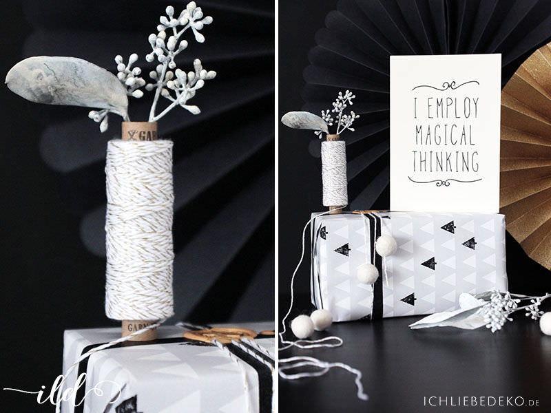 Geschenkverpackung-im-Schwarz-Weiß-Look