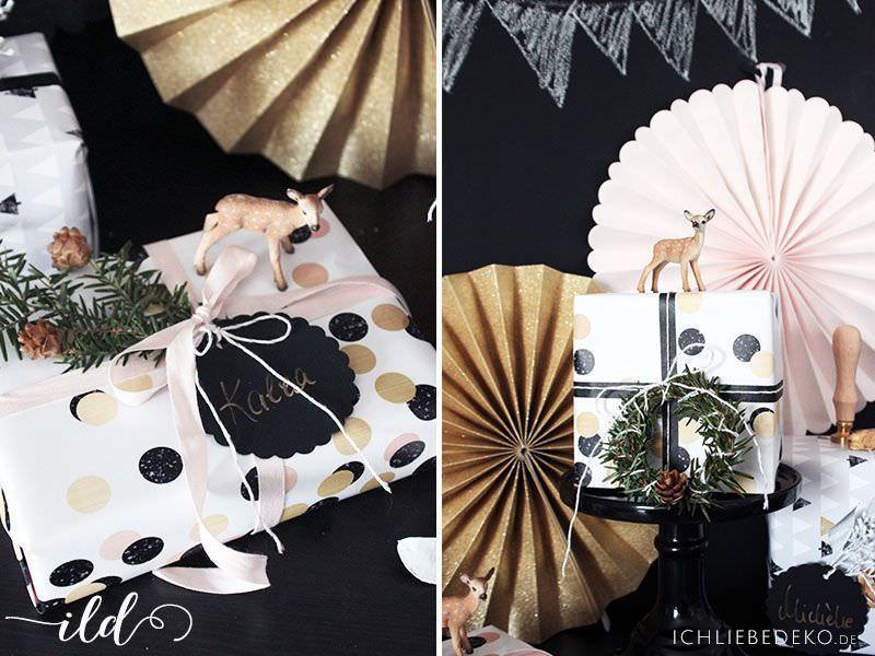 Kreative Geschenkverpackung für Weihnachten • Ich Liebe Deko