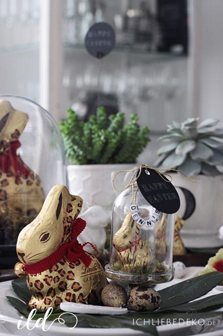 ostertischdeko im urban jungle look mit dem goldhasen von lindt ich liebe deko. Black Bedroom Furniture Sets. Home Design Ideas