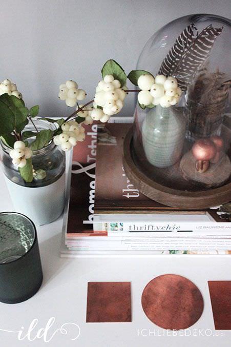 Herbstdekoration-in-Mint-und-Kupfer