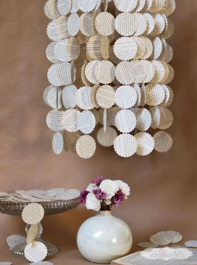Hochzeitsdeko Papierlampe