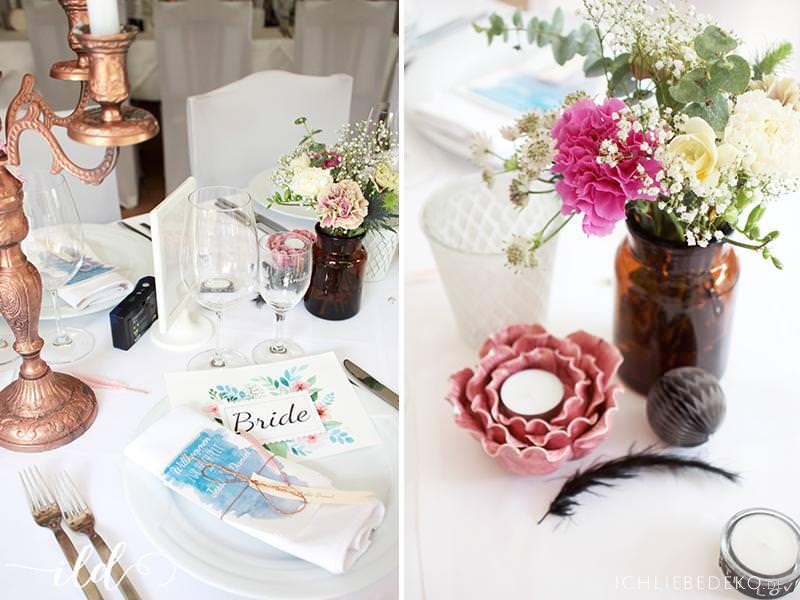 Romantische Hochzeitsdeko Im Boho Look Ich Liebe Deko