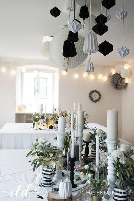 Hochzeitsdekoration-in-Schwarz-Weiß-Gold