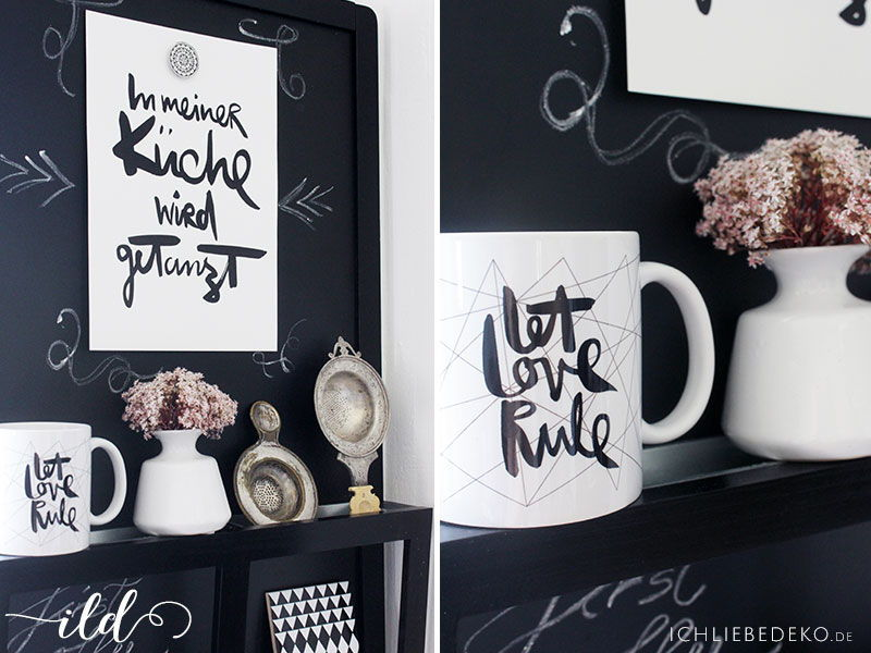 neue kaffeeecke in der k che ich liebe deko. Black Bedroom Furniture Sets. Home Design Ideas