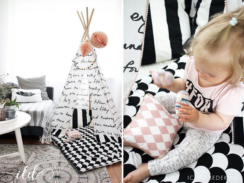 Wohnen mit Kindern - ein DIY Tipi als Spielecke im Wohnzimmer • Ich ...