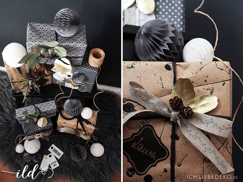 Geschenkverpackung zu Weihnachten & DIY Geschenkpapier • Ich Liebe Deko