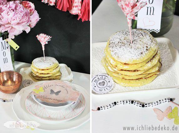 Muttertagsbrunch mit Pancakes