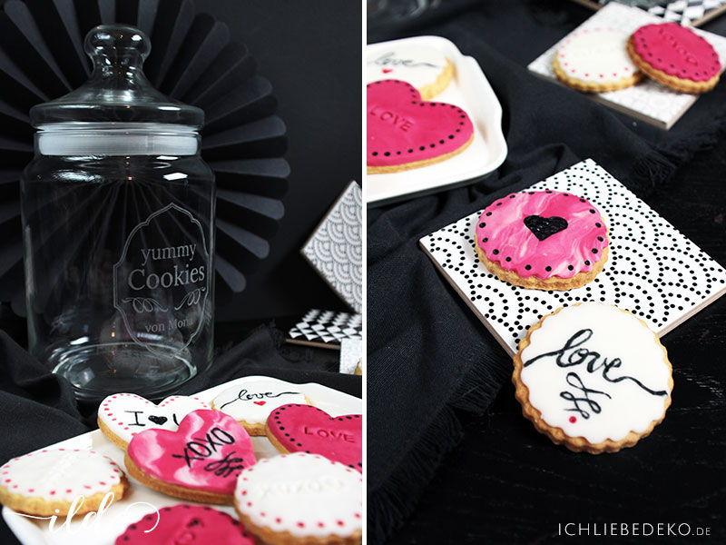 Personalisierbares Keksglas zum Valentinstag