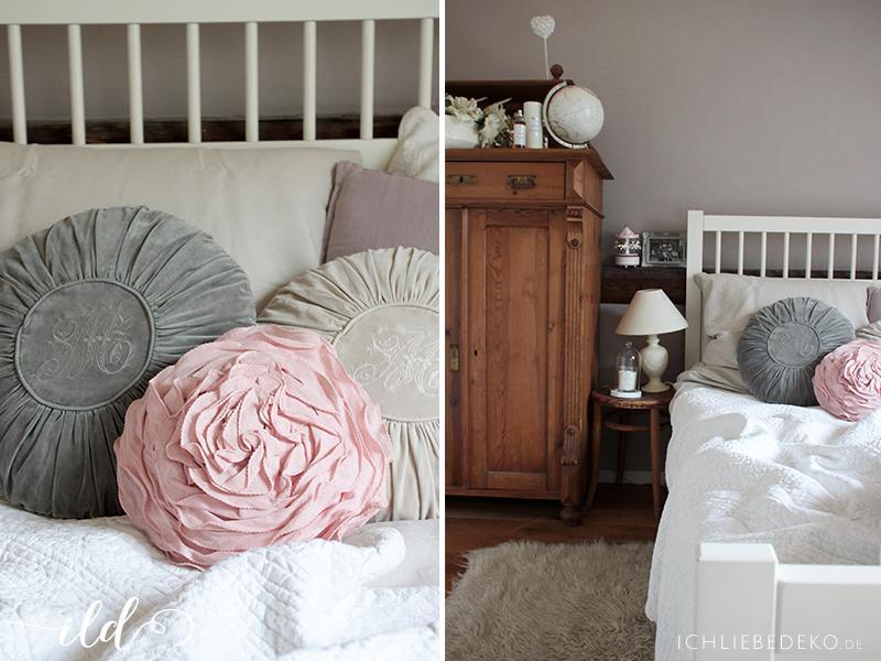 Schlafzimmer romantisch verspielt  Schlafzimmerdeko im Romantik-Look • Ich Liebe Deko