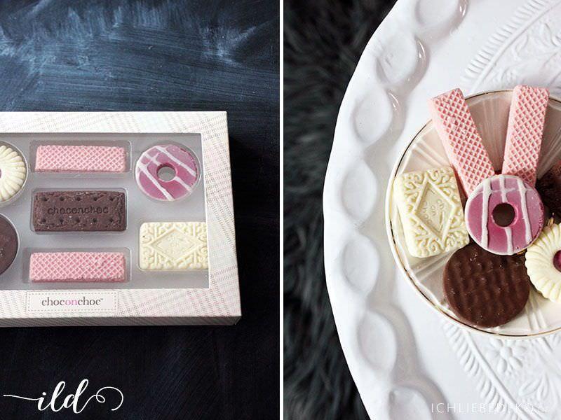 originelle Schokolade zum Valentinstag in Pastelltönen