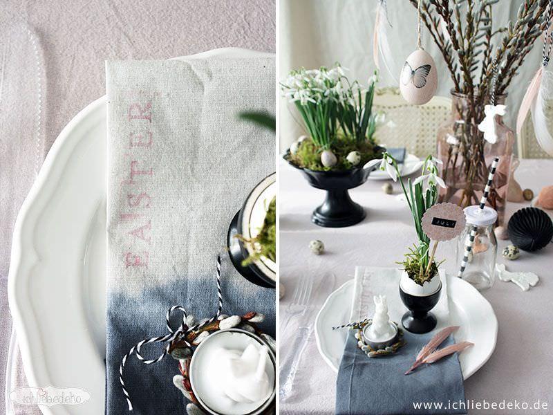 ostertischdeko in pastellt nen mit schwarzen kontrasten ich liebe deko. Black Bedroom Furniture Sets. Home Design Ideas
