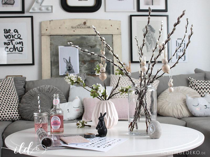 neue lampe im industrielook dezente osterdeko im wohnzimmer ich liebe deko. Black Bedroom Furniture Sets. Home Design Ideas