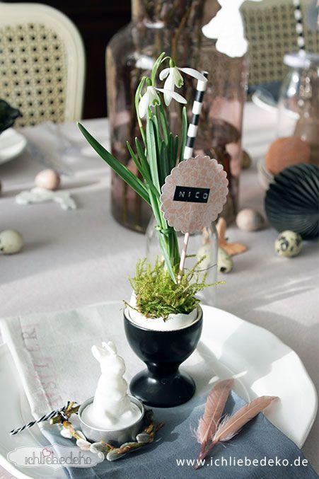 Tischdeko-mit-Schneeglöckchen