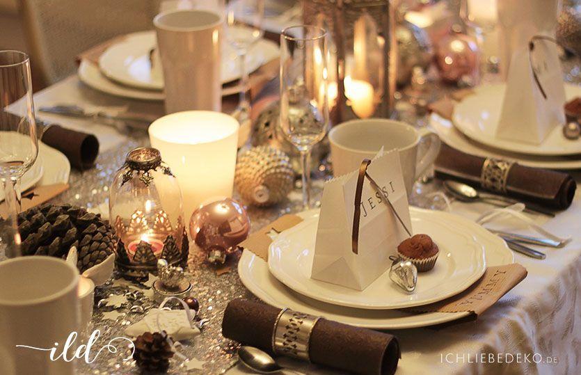 Tischdekoration f r weihnachten for Tischdeko fur weihnachten ideen