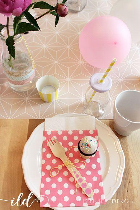 Tischdekoration Kindergeburtstag für Mädchen