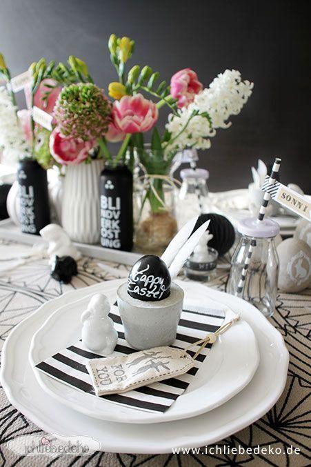 Tischdekoration-zu-Ostern