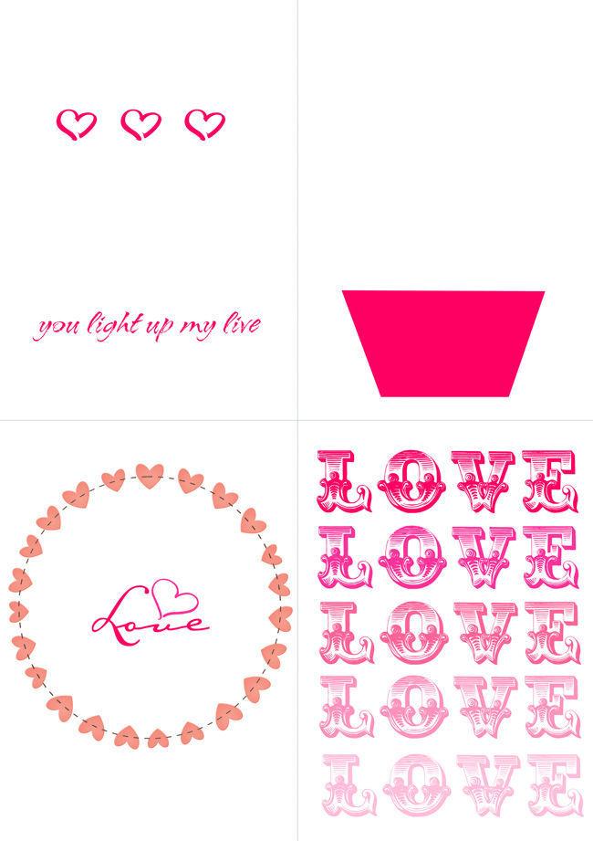 Valentinstag Karten basteln