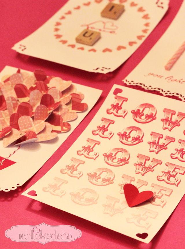 Valentinstagskarte Love