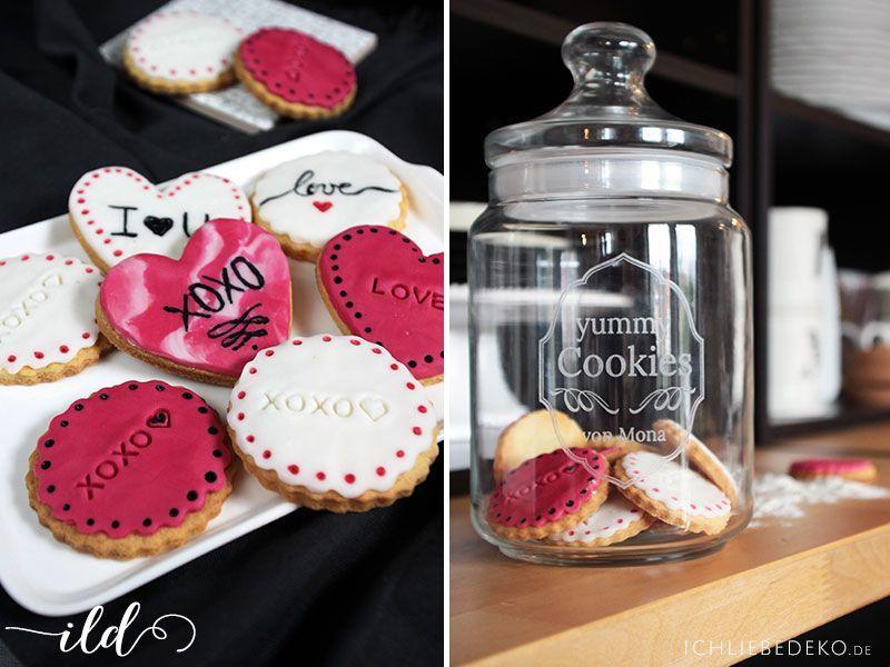 Personalisierbares Keksglas mit Gravur und selbstgemachte Kekse
