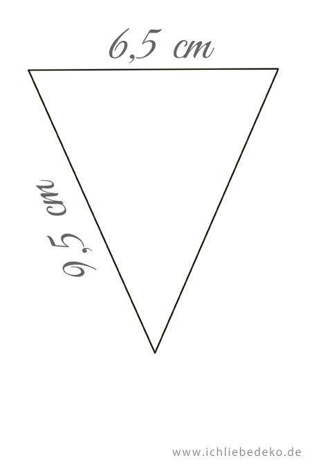 Vorlage-Dreieck-Muttertagsgeschenk