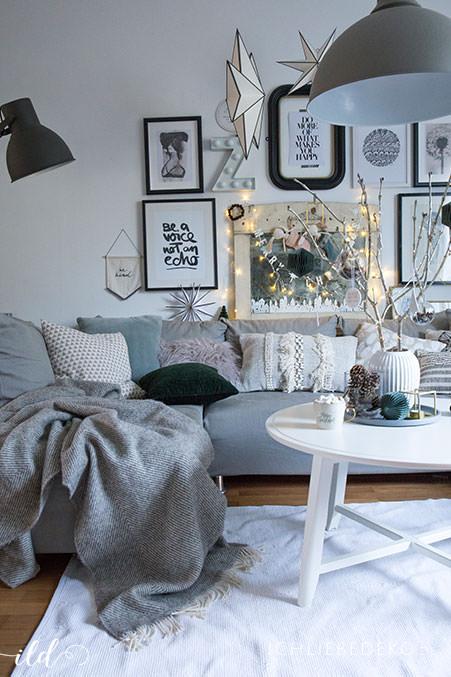 Wohnzimmer Weihnachtsdeko.Skandinavische Weihnachtsdeko Im Wohnzimmer Jetzt Wird S Hyggelig