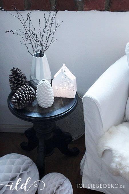 Schwarz Weiße Weihnachtsdeko.Weihnachtsdekoration Mit Viel Weiß Naturtönen Ich Liebe Deko