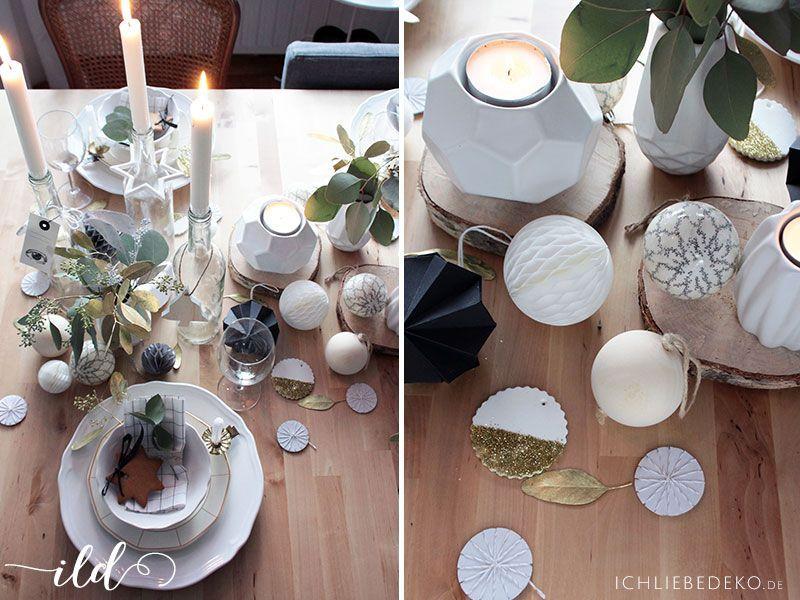 Weihnachtstischdeko-mit-Naturmaterialien-und-etwas-Gold