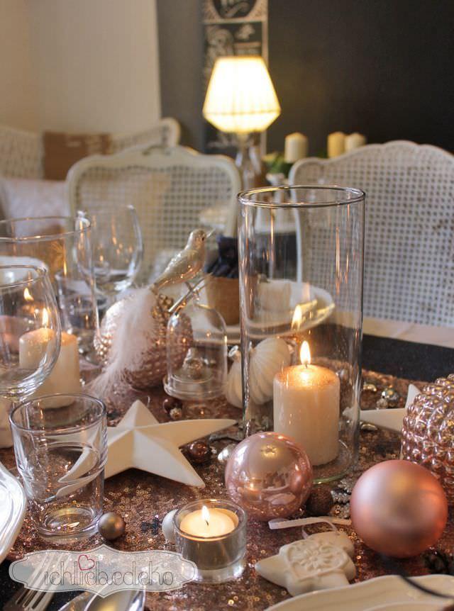 Weihnachtstischdekoration ich liebe deko - Winterlandschaft dekoration ...