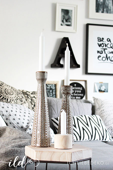 Wohnzimmer-mit-Kerzen-dekorieren