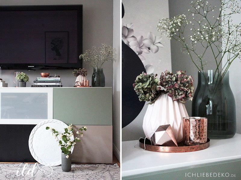 wandgestaltung mit alpina flur wohnzimmer im neuen look ich liebe deko. Black Bedroom Furniture Sets. Home Design Ideas