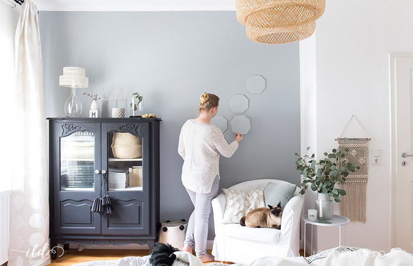 Trendy wandgestaltung im schlafzimmer ich liebe deko for Schlafzimmer wandgestaltung