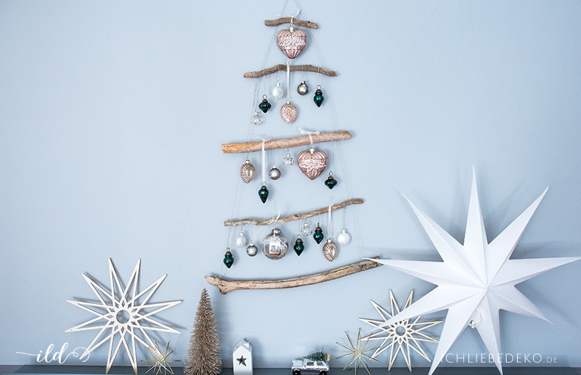 diy weihnachtsbaum aus sten ich liebe deko. Black Bedroom Furniture Sets. Home Design Ideas