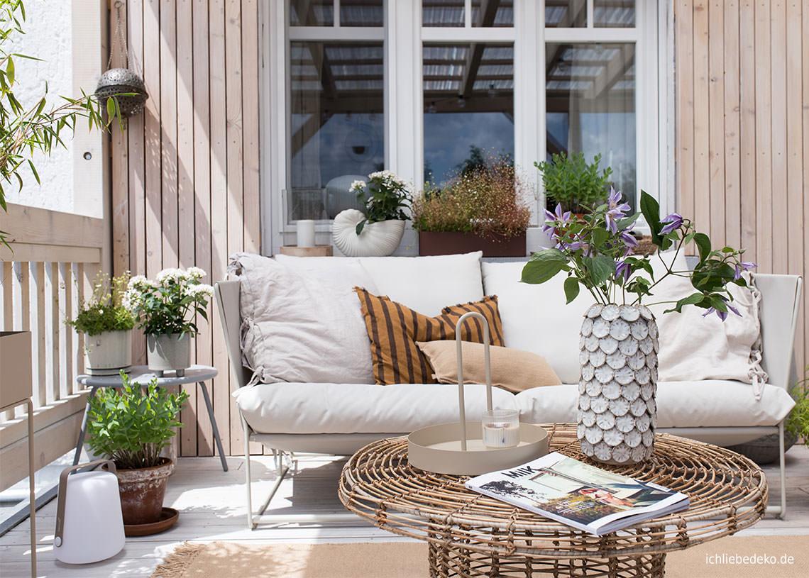 Terrasse gemütlich einrichten   so einfach geht´s • Ich Liebe Deko