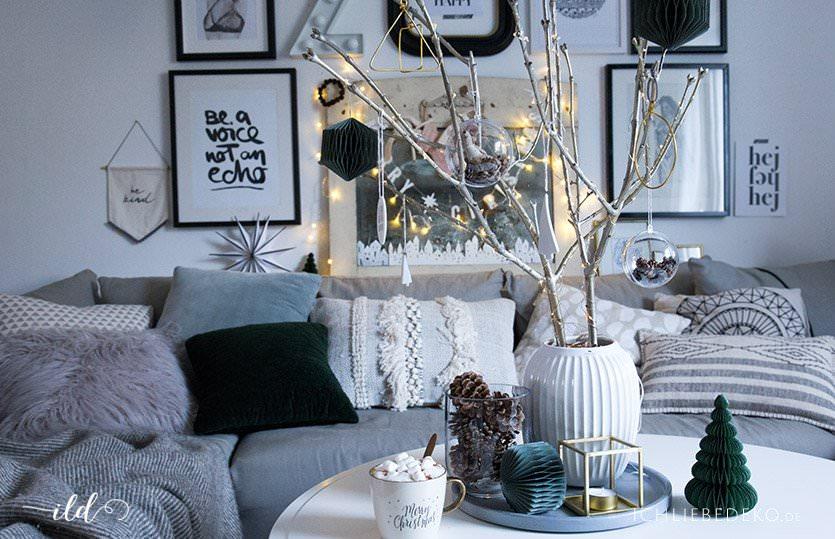 Nordische Weihnachtsdeko.Skandinavische Weihnachtsdeko Im Wohnzimmer Jetzt Wird S Hyggelig