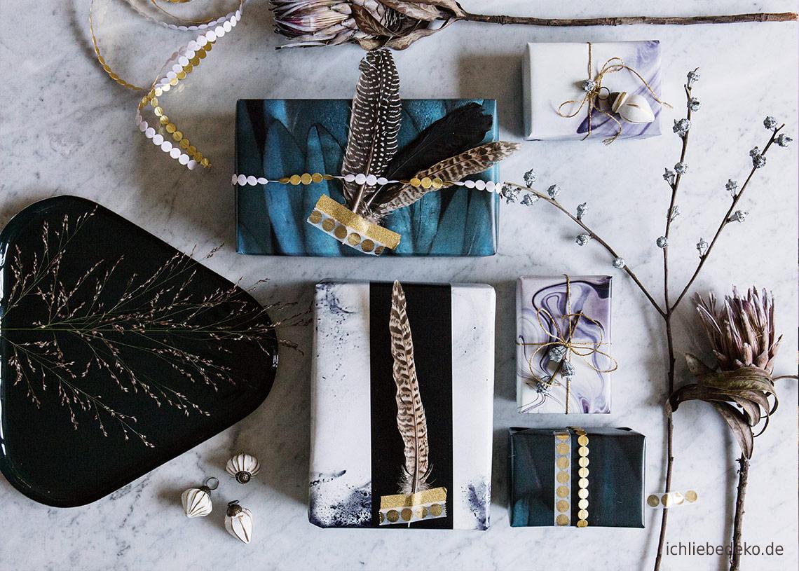 geschenkverpackung f r weihnachten mit wow effekt ich liebe deko. Black Bedroom Furniture Sets. Home Design Ideas